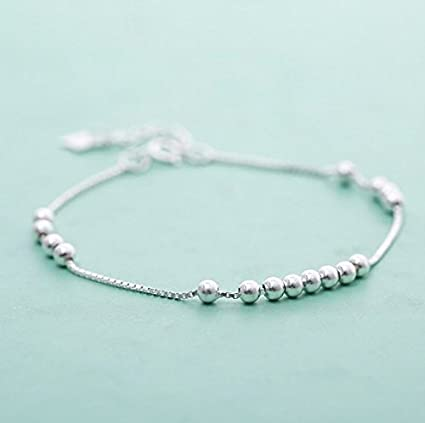 Amazon Com Aidou Charm Bracelets Diy Handmade Beaded Silver