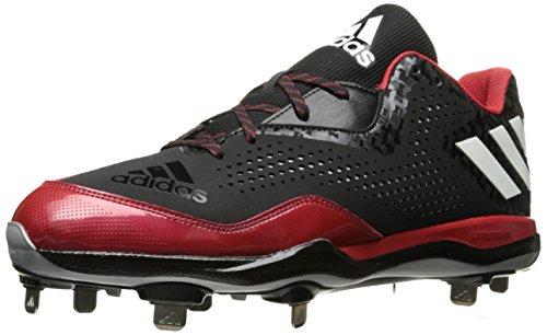 adidas Performance Herren PowerAlley 4 Baseballschuh Schwarz / Weiß / Universität Rot