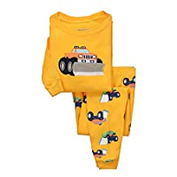 Dreamaxhp Truck Sleepwear Little Boys Cotton Pajama Set T Shirt & Pant DRG7404