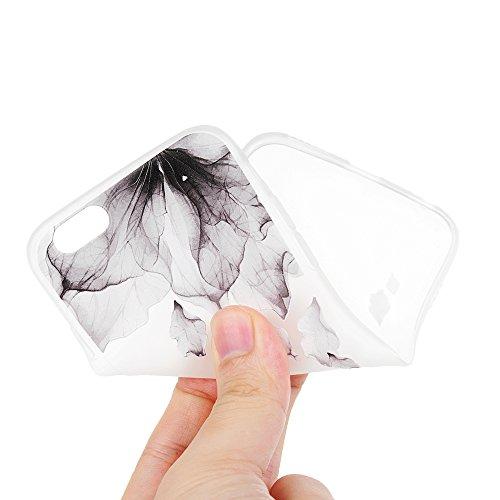 Badalink 2 x Coque Pour iPhone 6 6S , Case Housse Étui Bumper Coque TPU + IMD Silicone Gel Mat Souple Flexible Ultra Mince Slim Léger Anti Rayure Antichoc Housse Étui Motif Fleur