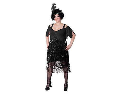 Sunnywood Women's Lava Diva Plus Size Flapper, Black 3X-Large -