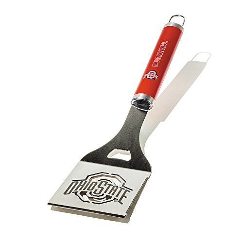 NCAA Ohio State Buckeyes Die-Cut Stainless Steel Spatula with Color Handle ()