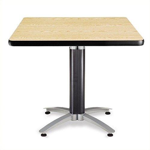 Oak Table Bases - OFM KMT36SQ-OAK Square Multi-Purpose Table, Metal Mesh Base, 36