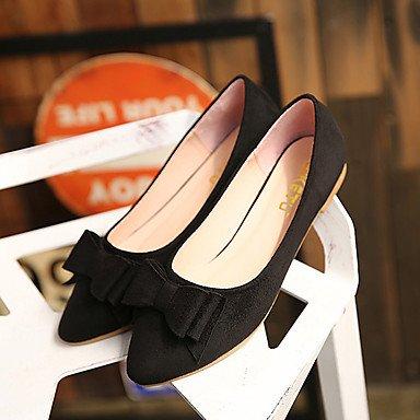 Cómodo y elegante soporte de zapatos de mujer Flats punta redonda/cerrado en los dedos de primavera/verano/otoño/Flats Casual soporte de talón con lazo y caminar rojo