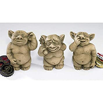 Design Toscano The Picc-a-Dilly Gargoyle Sculptures – Small Set Includes Small Bum, Ear and…