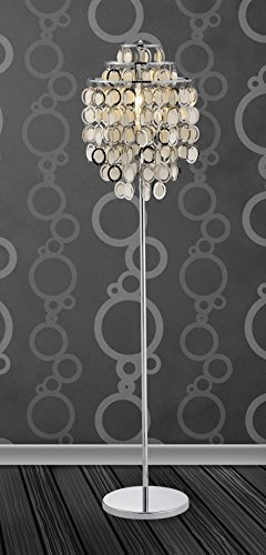 Adesso 3637-22 Shimmy 64 In. Floor Lamp - Decorative Lighting Fixture in Chrome Finish. Home Decor and Lighting