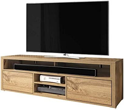 Selsey - Mueble para televisor (Madera de Roble, 137 x 33 x 42,5 cm): Amazon.es: Hogar