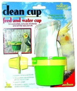"JW Pet Company Insight Clean Cup Feed And Water Medium Bird ""Sale JW Pet Company - Feeders / Crocks / Dishes"""