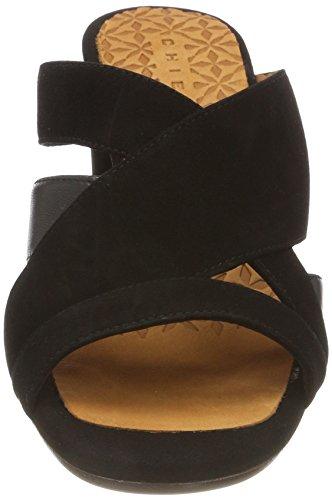maitai Mihara Femme maitai Uni Noir Black Mules Black Ante Ante Chie Negro Negro PAqwfc