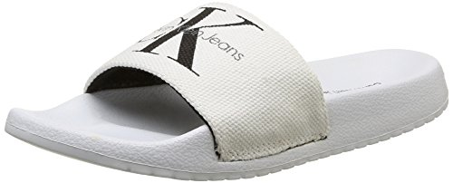 Calvin Klein Womens chantal canvas Open Toe Slip On Slippers