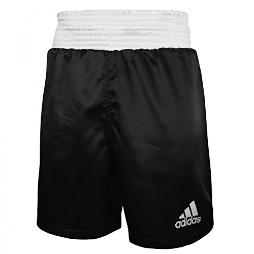 adidas Poly Satin Multi Boxing Trunks, Black/White, X-Large