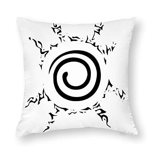 BonanzaPro Naruto Shippuden Pillowcases, Sello De Naruto Tatuaje Clipart Sasuke Uchiha Naruto Decorative Cotton Anime Pillow Coverfor Sofa Home Bedroom Car,Single-Sided Pattern, 22