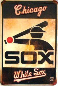 Dixie Chicago White Sox Retro Parking Sign