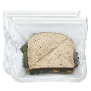 BlueAvocado Re-Zip Seal Reusable Lunch Bag, 2-Pack