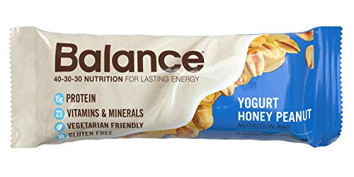 Balance Bar Yogurt Honey Peanut, 1.76 ounce bars, 6 (Protein Bar Honey Peanut Yogurt)