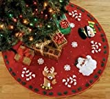 Bucilla Santa & Friends Tree Skirt Felt Applique Kit
