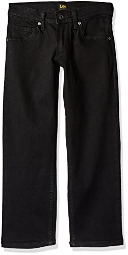 (LEE Big Boy Proof Fit Straight Leg Jean, Black, 16 Regular)