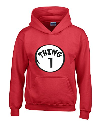 Thing 1 And Thing 2 Hoodies (OCPrintShirts ADULT Unisex Dr Seuss Thing 1 HOODIE M Red)