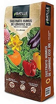 Semillas Batlle Sustratos Ecológicos - Sustrato Humus Lombriz 3Litros