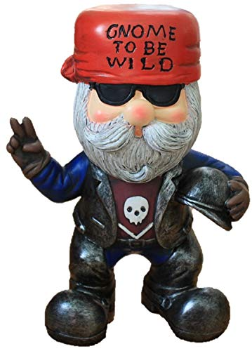 - Arrowhead Designs Large Biker gnome to be Wild, Motorcycle, Leather, Freedom
