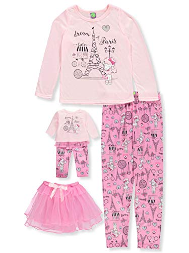 Dollie & Me Girls' Big Tutu Sleep Set, Pink, 5 -