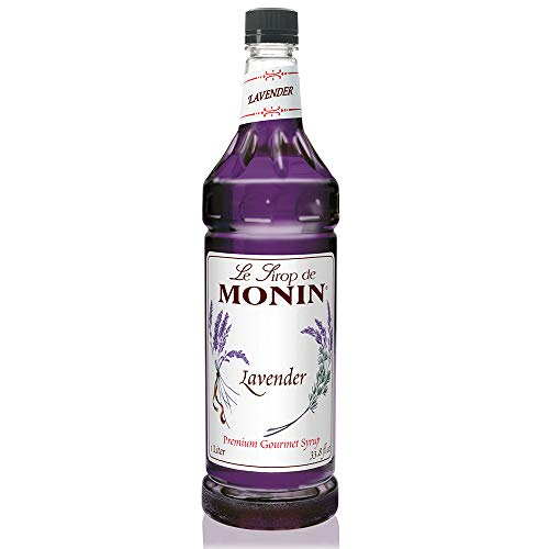 Monin - Lavender Syrup, Aromatic & Floral, Natural Flavors, Great for Cocktails, Lemonades, & Sodas, Vegan, Non-GMO, Gluten-Free (1 Liter)