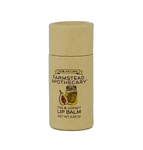 Farmstead Apothecary 100% Natural Lip Balm with Organic Beeswax, Organic Shea Butter & Organic Coconut Oil, Fig & Honey 0.25 oz -