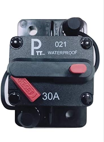 Photo-Top 30A Surface -Mounted Circuit Breaker T3 Switch with Manual Reset, Water Proof for Auto Boat Marine, 12v-48vDC MarinecO