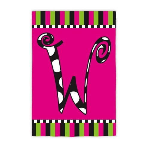 Twirly Curly Monogram Flag – W (Garden) Review