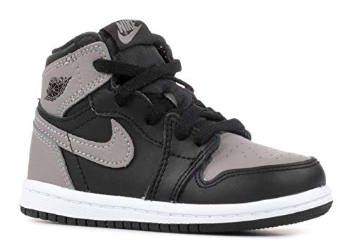 NIKE Jordan 1 Retro High OG Toddler's Shoes Black/Medium Grey/White aq2665-013 (6 M US)