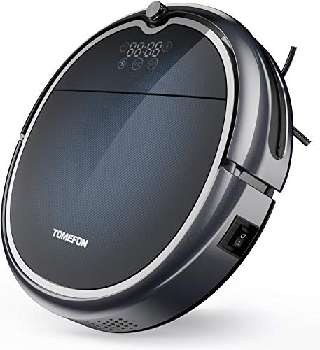 TOMEFON Robotic Vacuum Cleaner with Wi-Fi Connected, Max Power Suction,Self-Charging, Quiet, Robot Vacuum for Hard Floors & Carpets (Updated)
