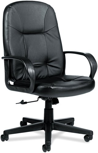 Global 4003BK450550 Arno Executive Leather High-Back Swivel/Tilt Chair, Black Arno Leather