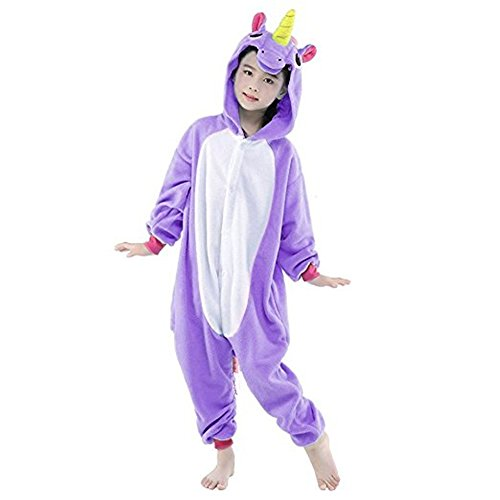 Halloween Cosplay Costume Unicorn Onesie Pajamas OnePiece Animal Outfit (Unicorn Onesie Halloween Costume)
