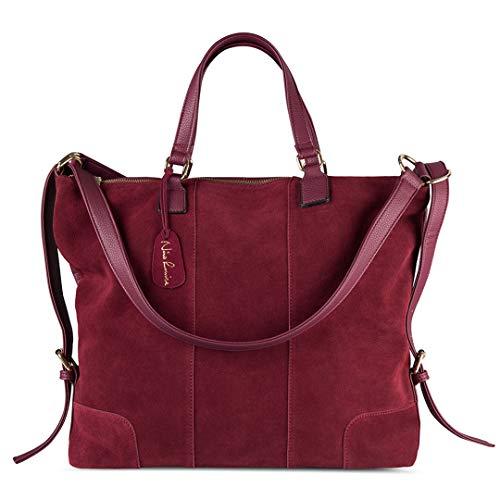 voyage une cuir nubuck en sac mode loisirs main épaule Burgundy Daim portable casual à z0xAxw