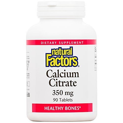 Natural Factors, Calcium Citrate, Helps Maintain Strong Bones and Teeth, 90 tablets (90 servings)