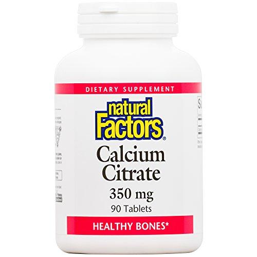 Natural Factors - Calcium Citrate 350mg, Promotes Healthy Bones, 90 Tablets