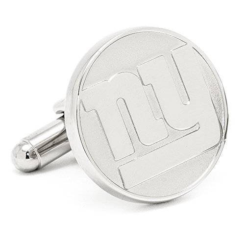 - NY Giants Silver Edition Cufflinks Novelty 1 x 1in