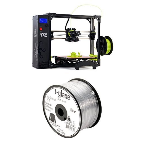 LulzBot-TAZ-6-3D-Printer-with-Taulman-T-Glase-PET-3D-Printer-Filament-1-lb-Reel-3-mm-Clear