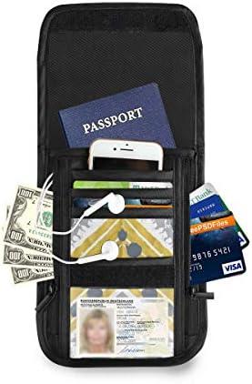 縞 模様 パスポートホルダー セキュリティケース パスポートケース スキミング防止 首下げ トラベルポーチ ネックホルダー 貴重品入れ カードバッグ スマホ 多機能収納ポケット 防水 軽量 海外旅行 出張 ビジネス