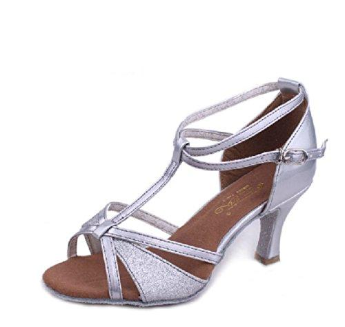 Des Mädchens Der Frauen Professional Latin Schuhe Obermaterial Satin Sandalen Salsa / Ballroom Dance Schuh Med (weitere Farben) A