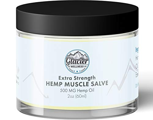 (Hemp Oil Muscle Rub for Pain Relief - 500 MG Extra Strength Hemp Extract Pain Relieving Cream - Pre Workout Muscle Energizer - All Natural Ingredients - USA Made)