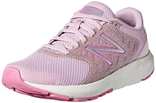 New Balance Girls' Urge V2 FuelCore Running Shoe, OXYGEN PINK/LIGHT CARNIVAL, 4 M US Big Kid