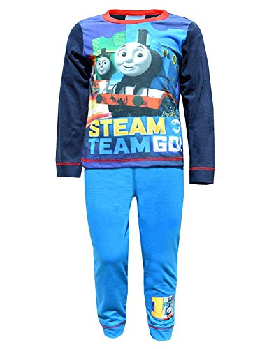 Boys Thomas The Tank Engine Steam Team Go Snuggle Fit Pyjamas 3-4 Years Blue
