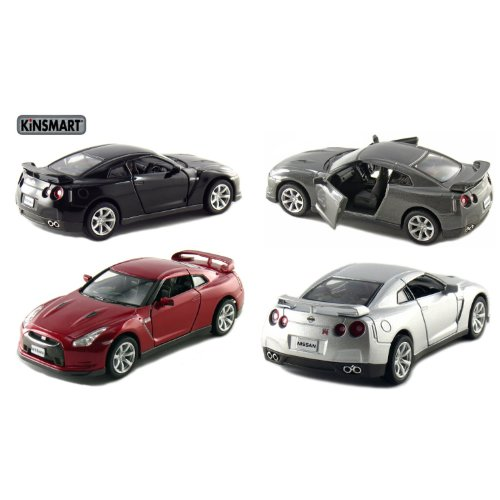 """Set of 4: 5"""" 2009 Nissan GT-R R35 1:36 Scale"""