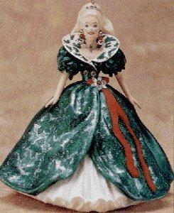 QXI5057 1995 Holiday Barbie 3rd Hallmark Keepsake Ornament Series