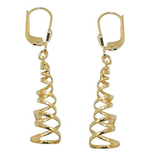 Boucles d'oreilles Boucles d'oreilles Boucles d'oreilles spirale brillant 333or Femme