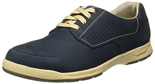 Clarks Derby Hombre Stafford para Navy Plan Zapatos Nubuck Azul fzfwrv