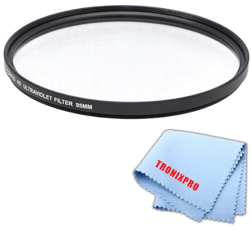 (Tronixpro 95mm Pro Series High Resolution Digital Ultraviolet UV Protection Filter for Sigma 150-600mm 50-500mm, Tamron SP 150-600mm f/5-6.3 Di VC USD Lens + Microfiber Cloth)