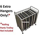 Additional Hangers For Storage Dynamics RET3616 Rolling Pants Trolley