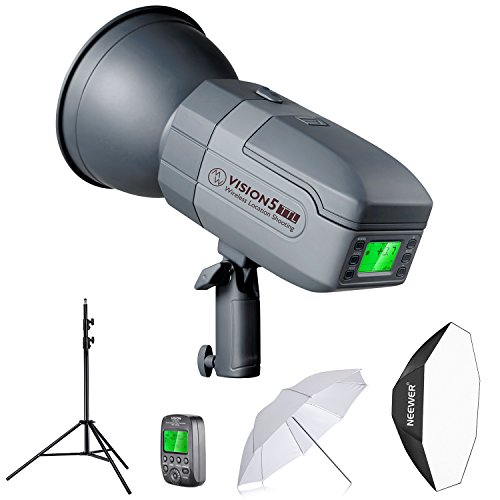 Neewer Vision5 400W TTL for Canon HSS Outdoor Studio Flash Strobe (500 Full Power with 2.4G System,Wireless Trigger Included) with Light Stand, Octagonal Softbox and White Translucent Umbrella by Neewer